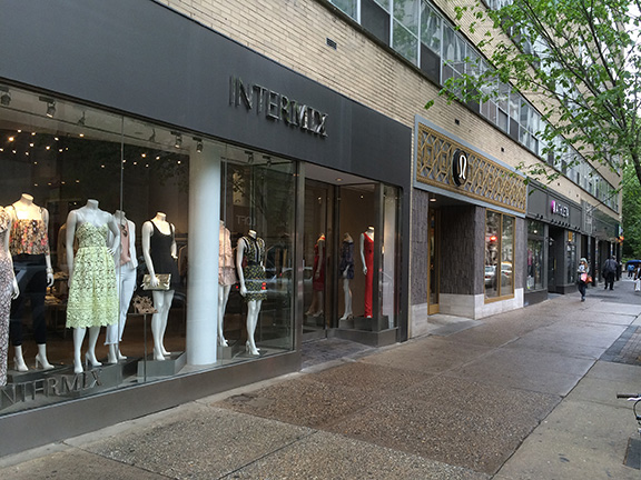 Intermix store windows