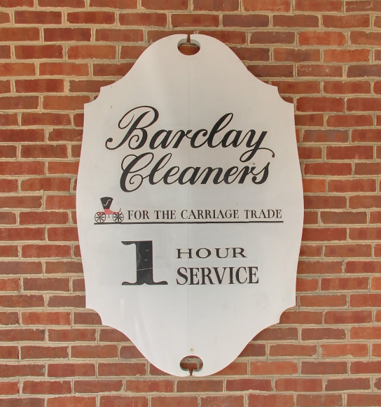 Barclay Cleaners sign