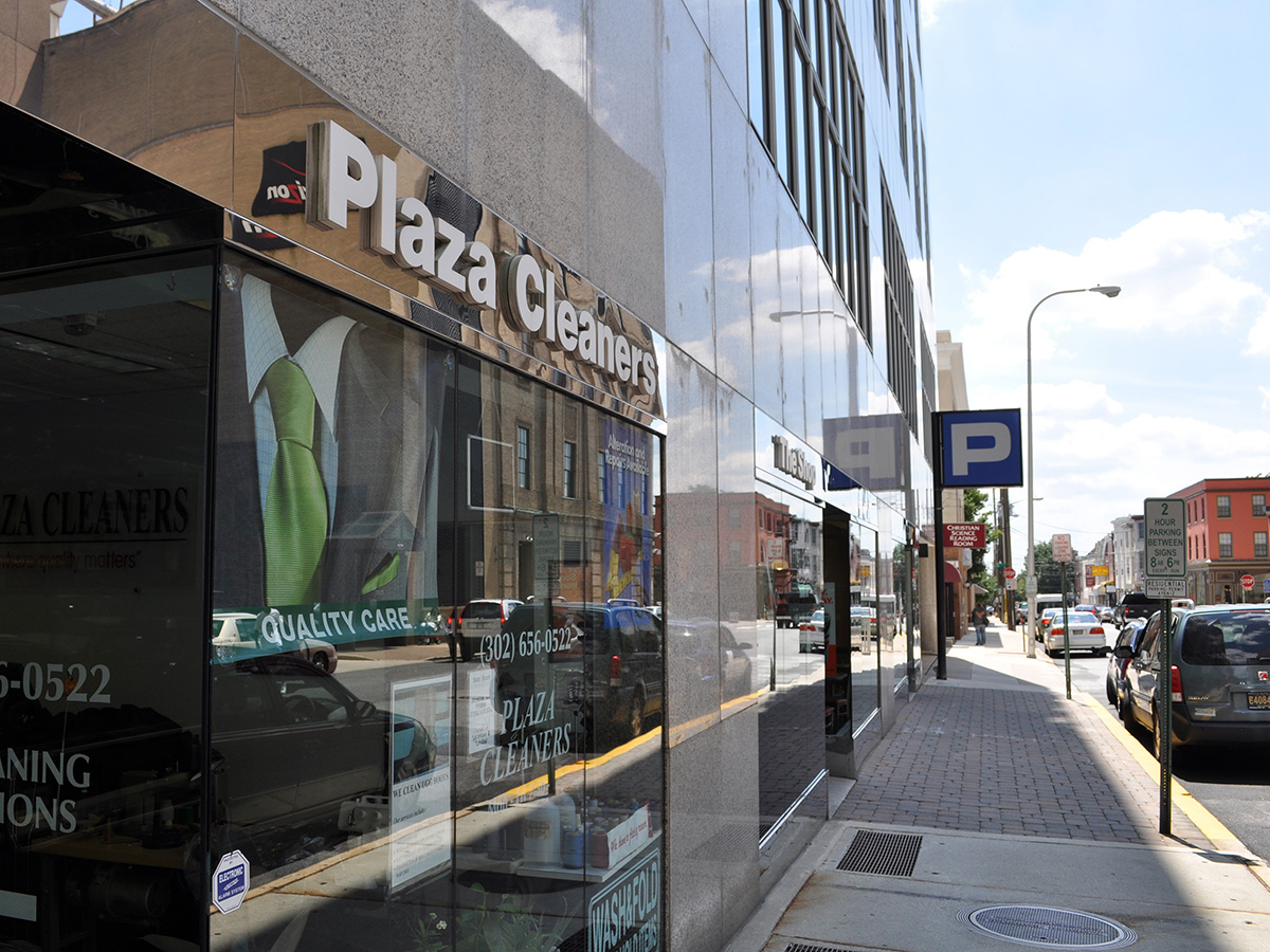 Exterior Plaza Cleaners and retail space