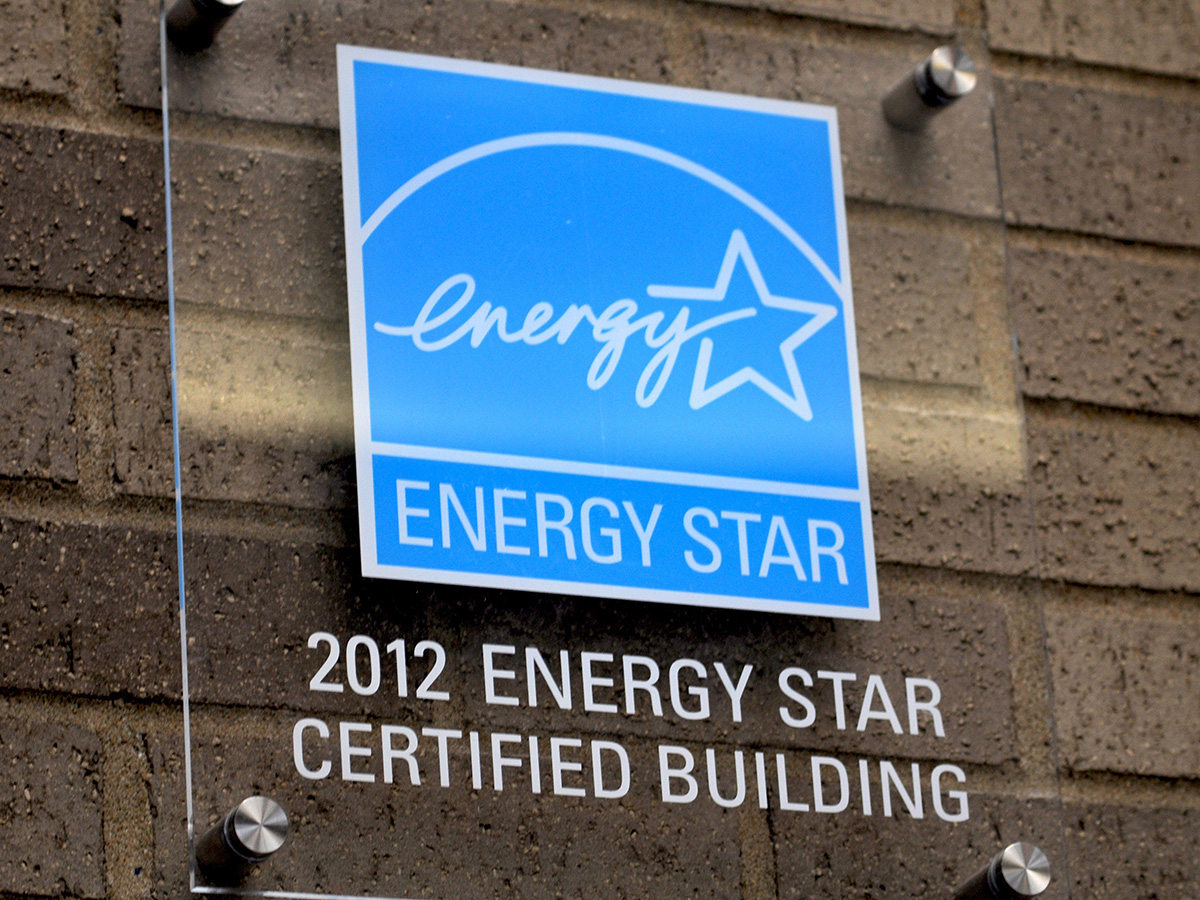 Energy Star certified building sign