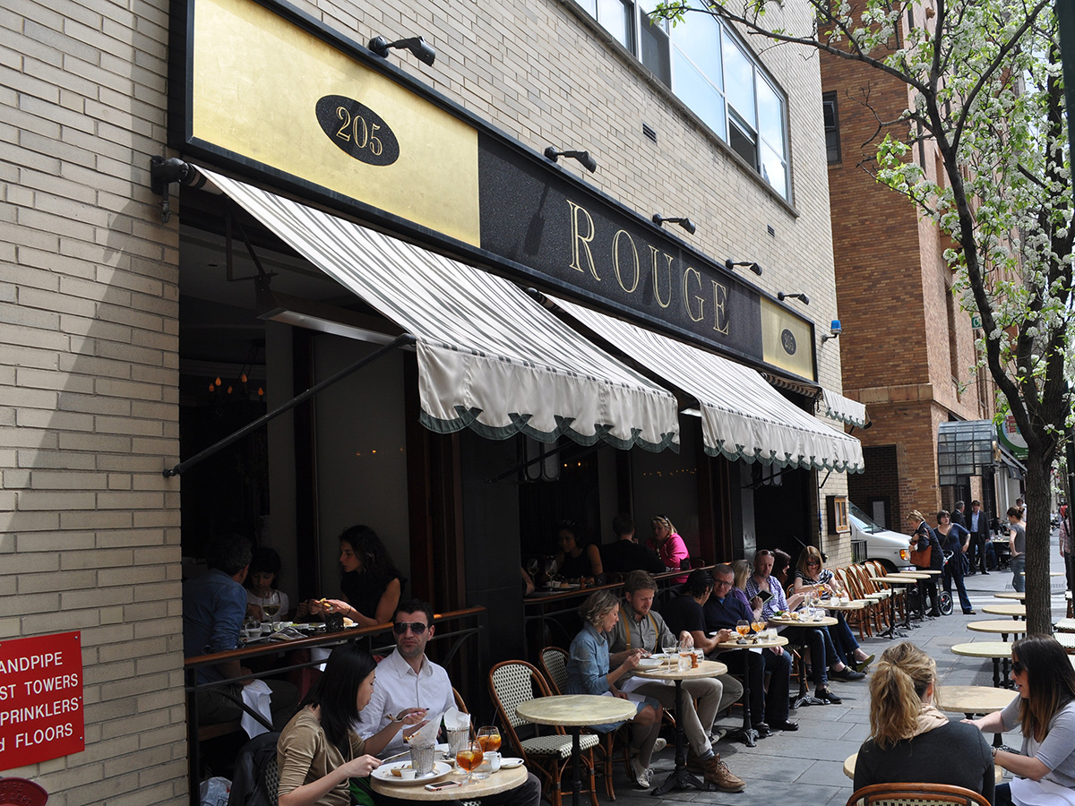 The Rouge cafe exterior tables